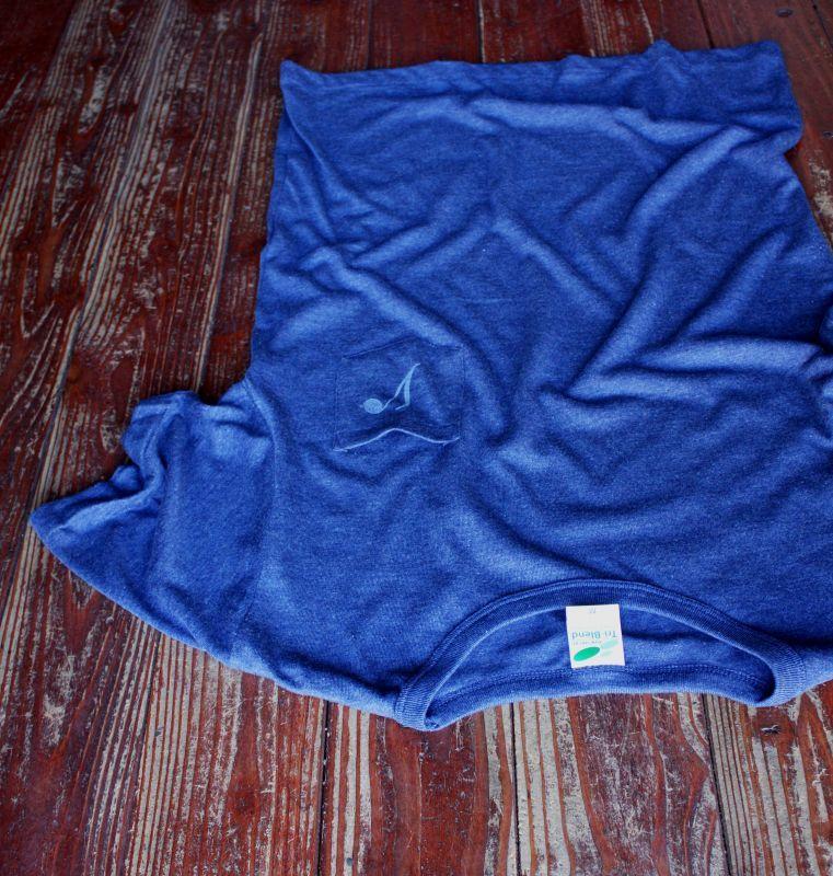 画像3: ◆Simple is Best ポケットTシャツ【ヘザーネイビー】全国送料無料S・M・Lサイズ