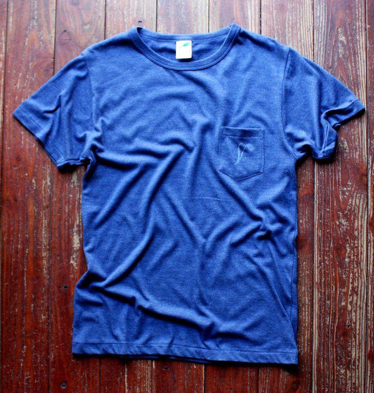 画像1: ◆Simple is Best ポケットTシャツ【ヘザーネイビー】全国送料無料S・M・Lサイズ