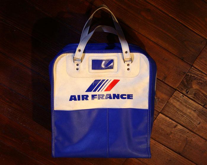 画像1: ◆70sヴィンテージAIR FRANCEエアラインバッグ
