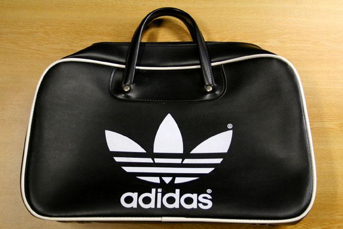 画像1: ◆70sヴィンテージadidas【PETER BLACK社】UK製ボストンバッグ