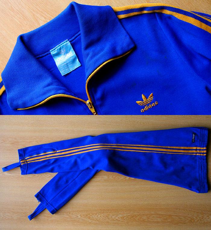 画像1: ◆70sヴィンテージadidasパンツ&ジャケット【入手困難】レアカラー