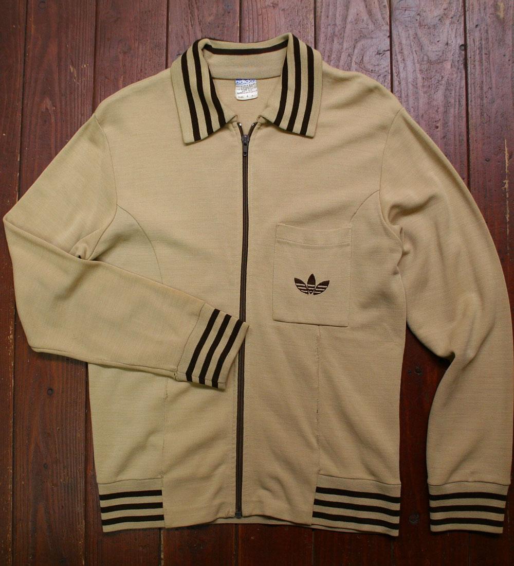 画像1:  ◆70sヴィンテージadidas【難有り】西ドイツ製ニットジャケット