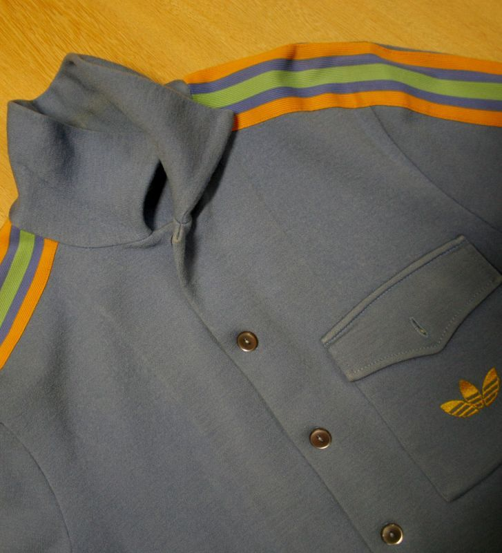 画像4:  ◆70sヴィンテージadidas【西ドイツ製】ボタンジャケット