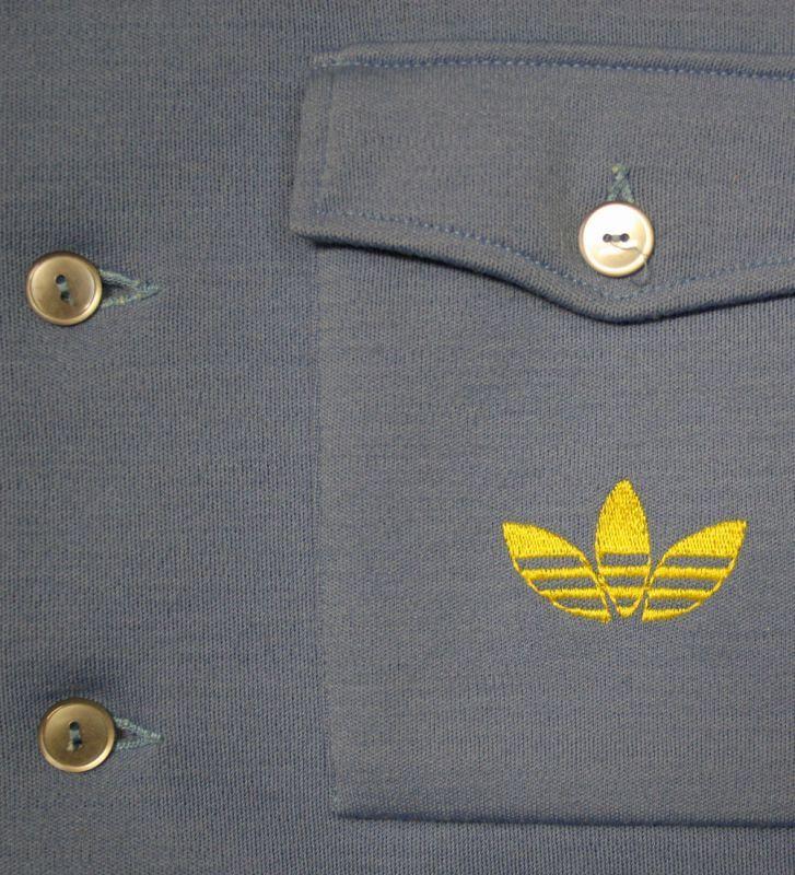 画像2:  ◆70sヴィンテージadidas【西ドイツ製】ボタンジャケット