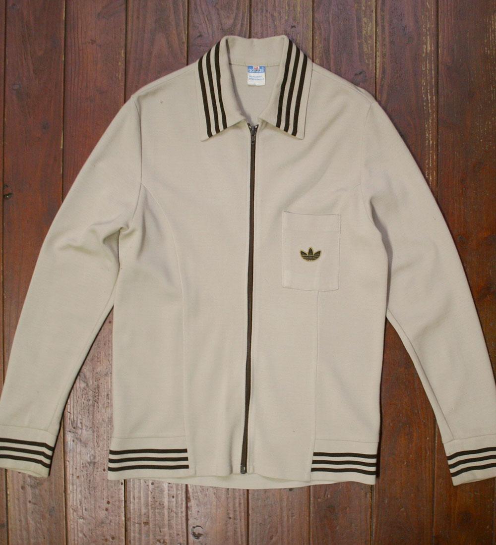 画像1:  ◆70sヴィンテージadidas【難有り】ニットジャケット