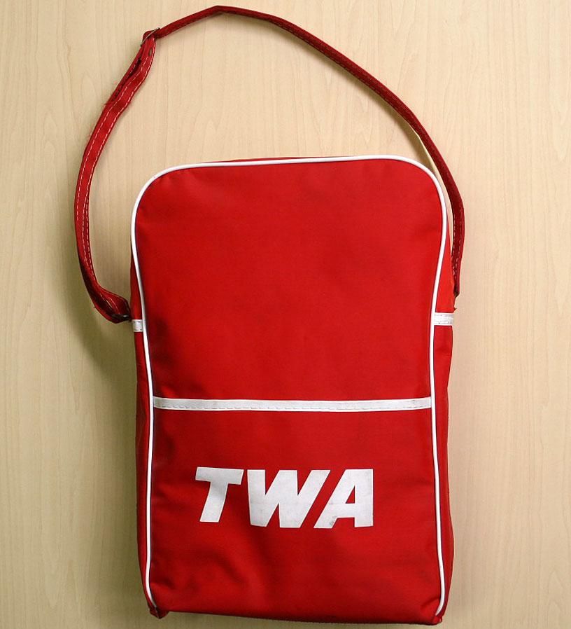 画像1: ◆70sヴィンテージTWA【希少】エアライン バッグ
