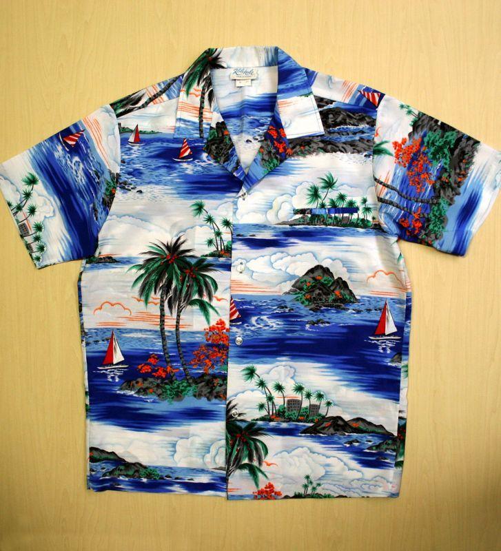 画像1: ◆Vintage アロハシャツ【made in HAWAII】 MLサイズ