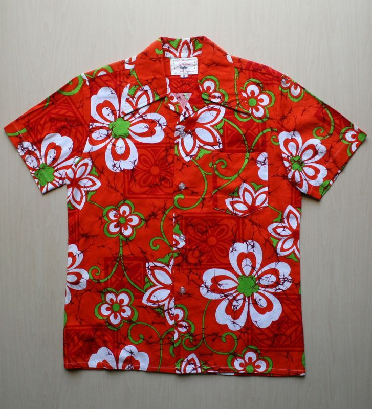 画像1: ◆Vintage アロハシャツ【made in HONG KONG】 Mサイズ