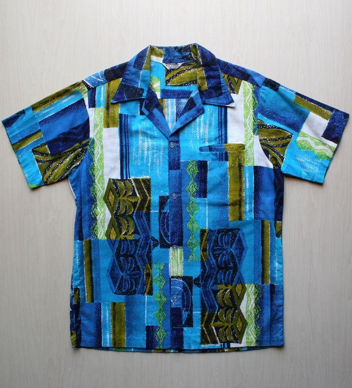 画像1: ◆Vintage アロハシャツ【made in HAWAII】 Mサイズ