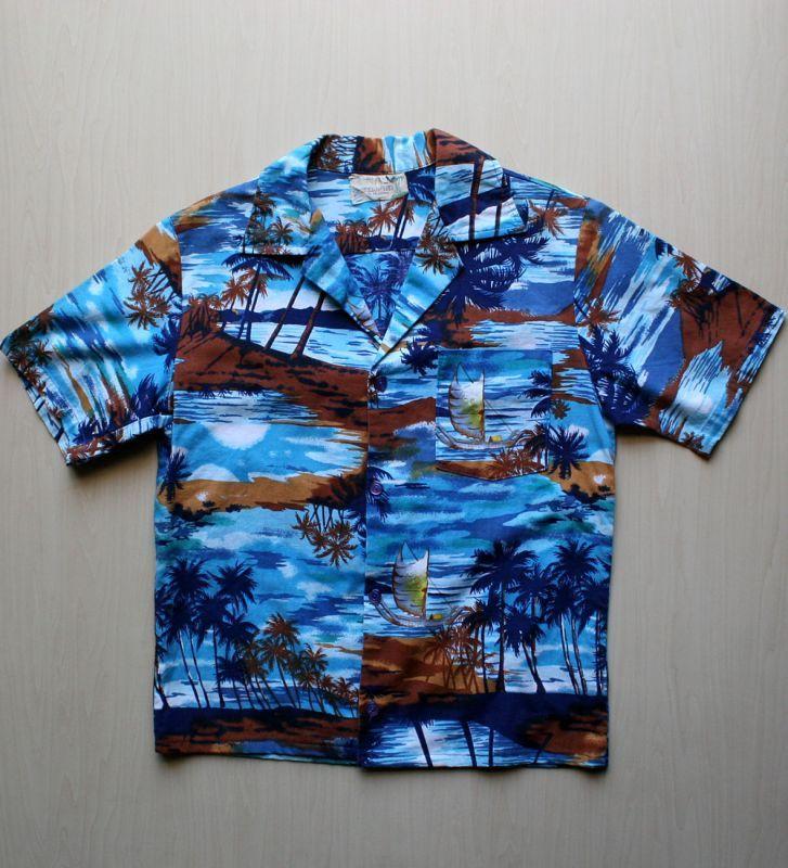 画像1: ◆Vintage アロハシャツ【made in CALIFORNIA】 Sサイズ