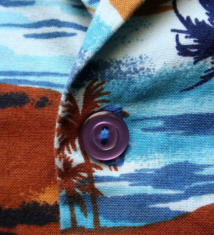 画像2: ◆Vintage アロハシャツ【made in CALIFORNIA】 Sサイズ