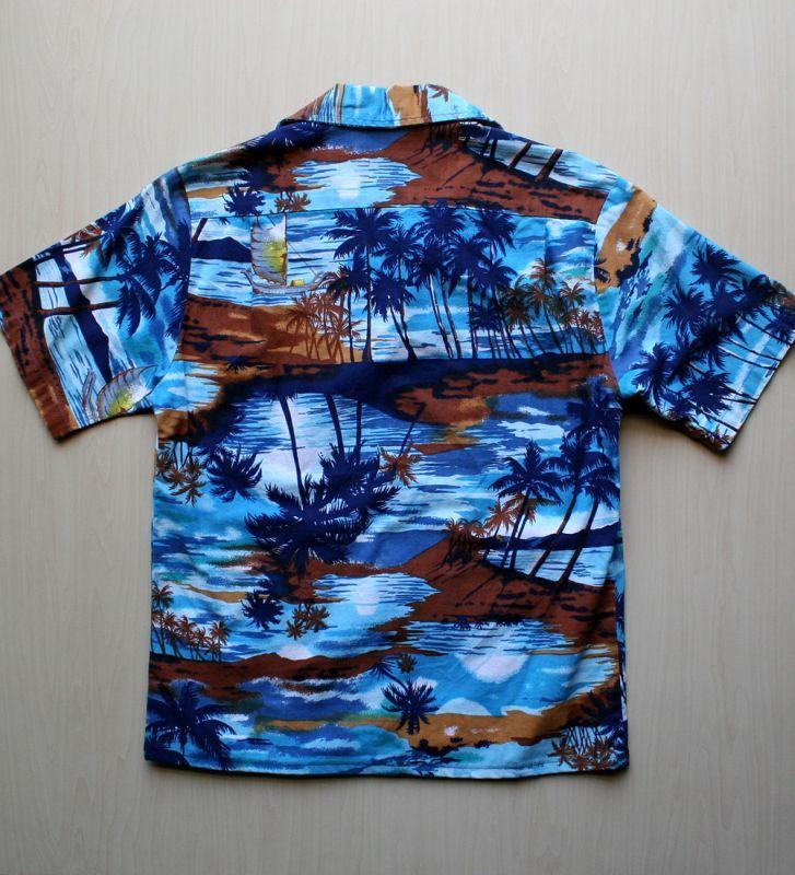 画像4: ◆Vintage アロハシャツ【made in CALIFORNIA】 Sサイズ