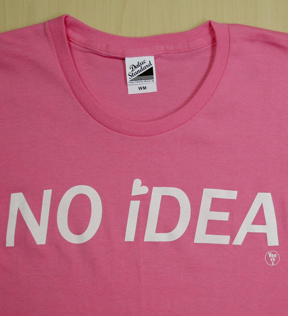 画像2: ◆NO iDEA Tシャツ【ピンク】全国送料無料WM・S・Mサイズ