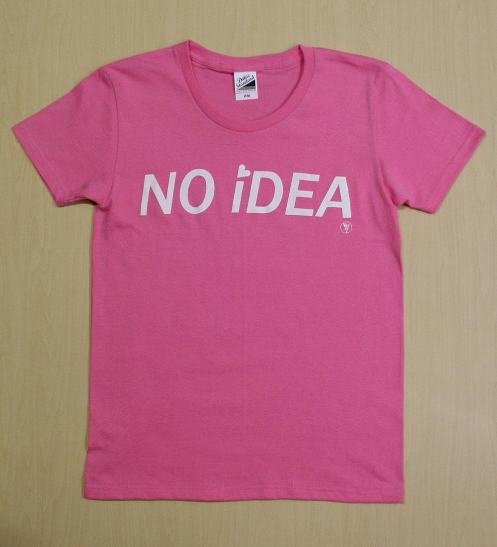 画像1: ◆NO iDEA Tシャツ【ピンク】全国送料無料WM・S・Mサイズ