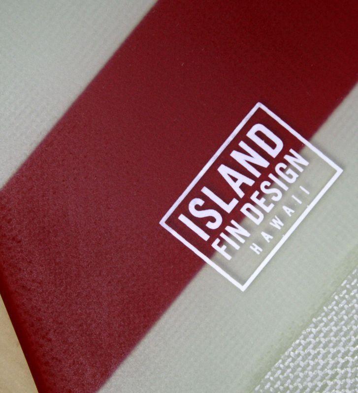 """画像2: ◆ISLAND FIN DESIGN レッドBOADER Fin 9.5"""""""