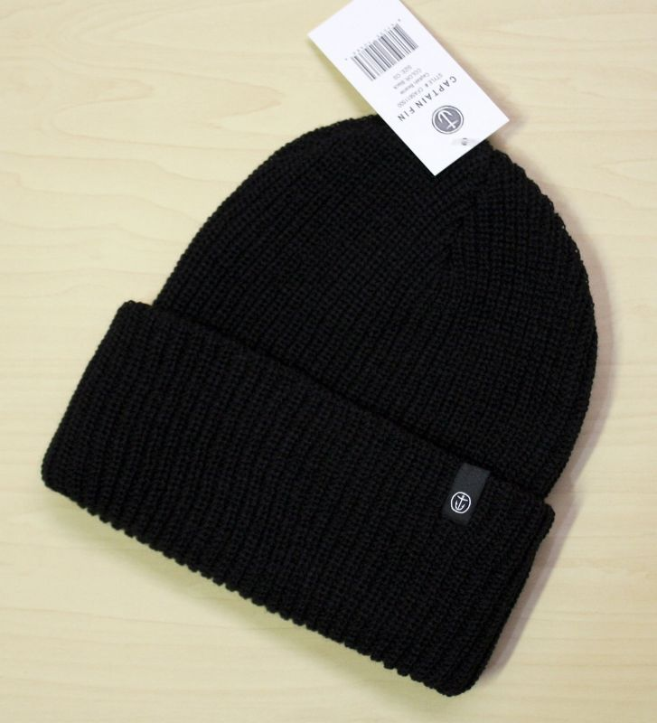 画像1: ◆CAPTAIN FIN Beanie 【made in USA】Black
