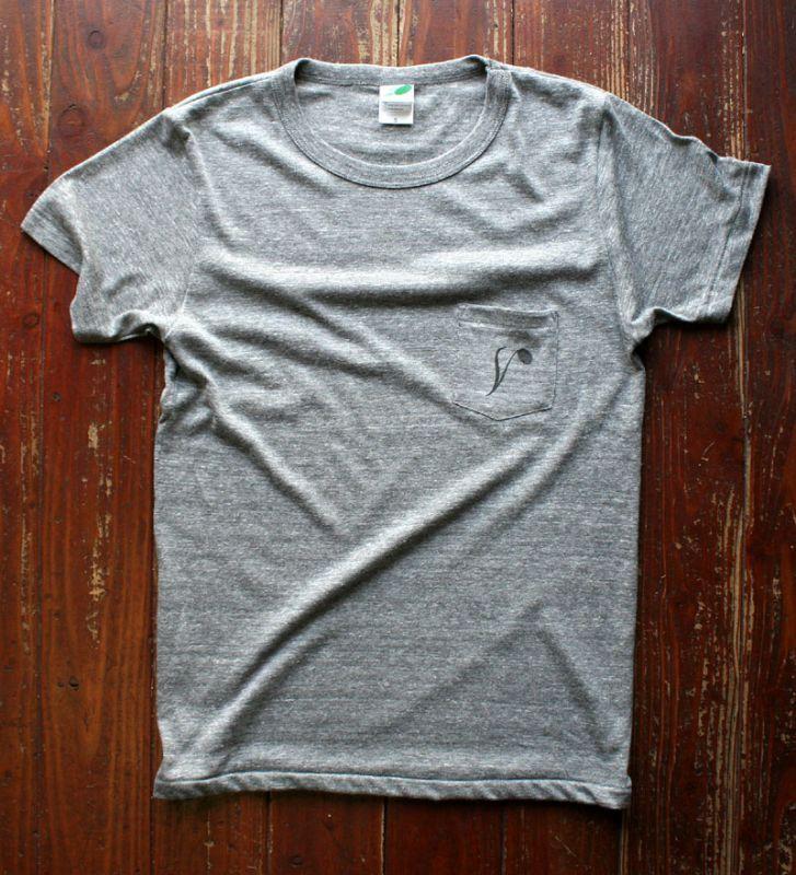 画像1: ◆Simple is Best ポケットTシャツ【ヘザーグレー】全国送料無料S・M・Lサイズ