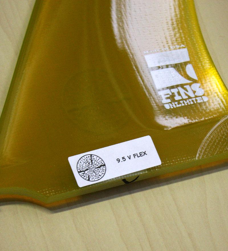 """画像4: ◆Fins Unlimited Joel Tudor V Flex Fin 9.5"""""""