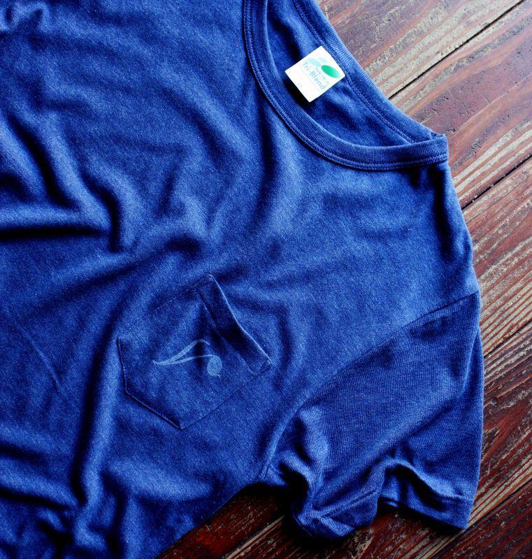 画像4: ◆Simple is Best ポケットTシャツ【ヘザーネイビー】全国送料無料S・M・Lサイズ