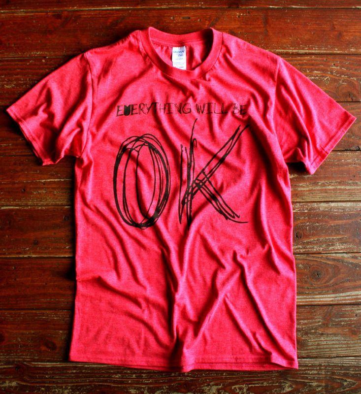 """画像1: ◆simple is best """"OK"""" 赤Tシャツ【全国送料無料】S・M・L・XLサイズ"""