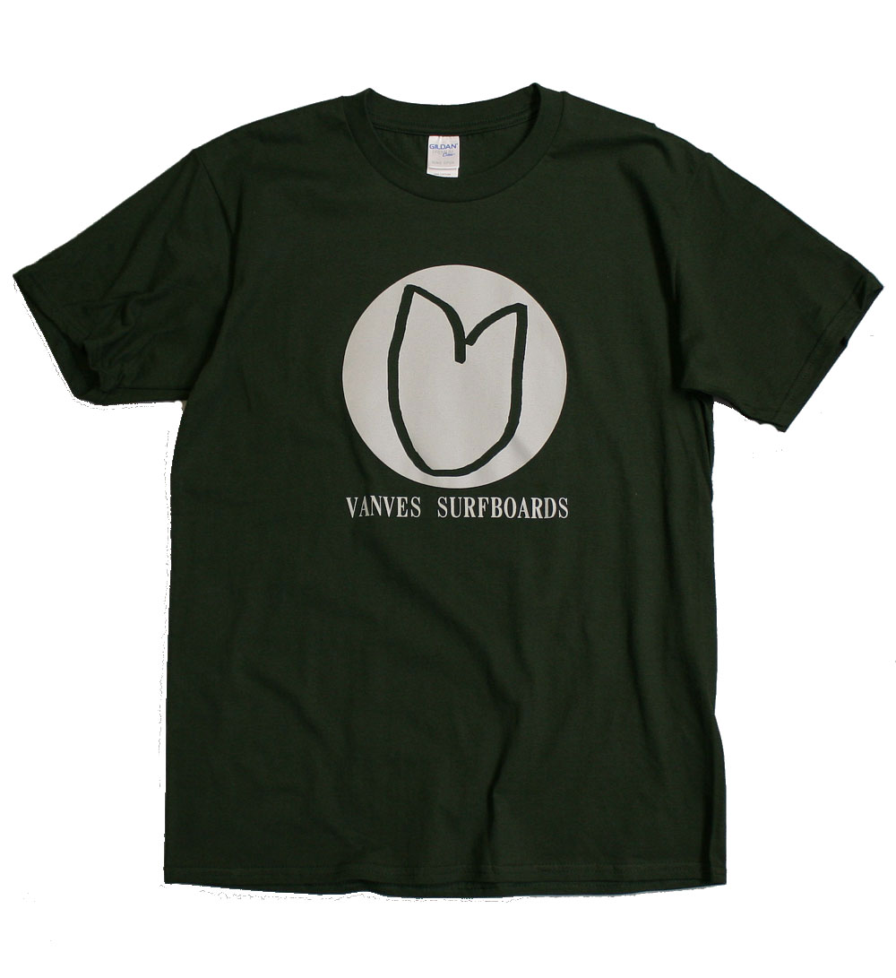 画像1: ◆2020 VANVES SURFBOARDS Tシャツ【全国送料無料】フォレストグリーン