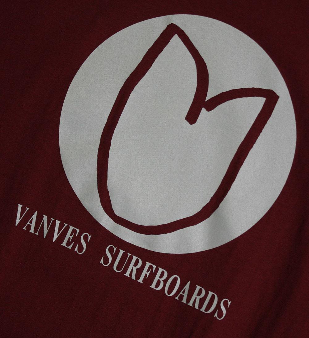 画像2: ◆2020 VANVES SURFBOARDS Tシャツ【全国送料無料】バーガンディ