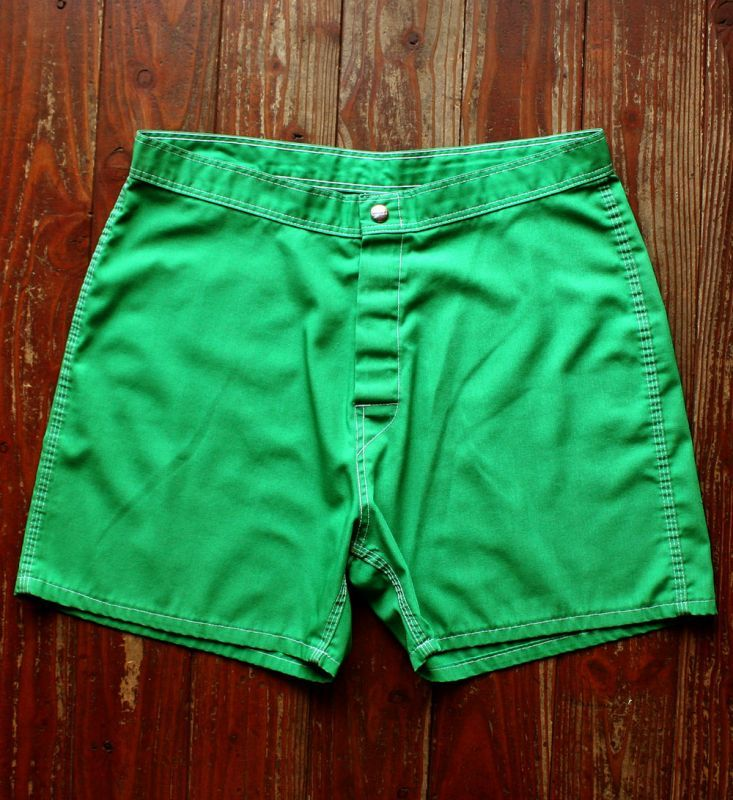 画像1:  ◆1970s SUNDEK trunks グリーン