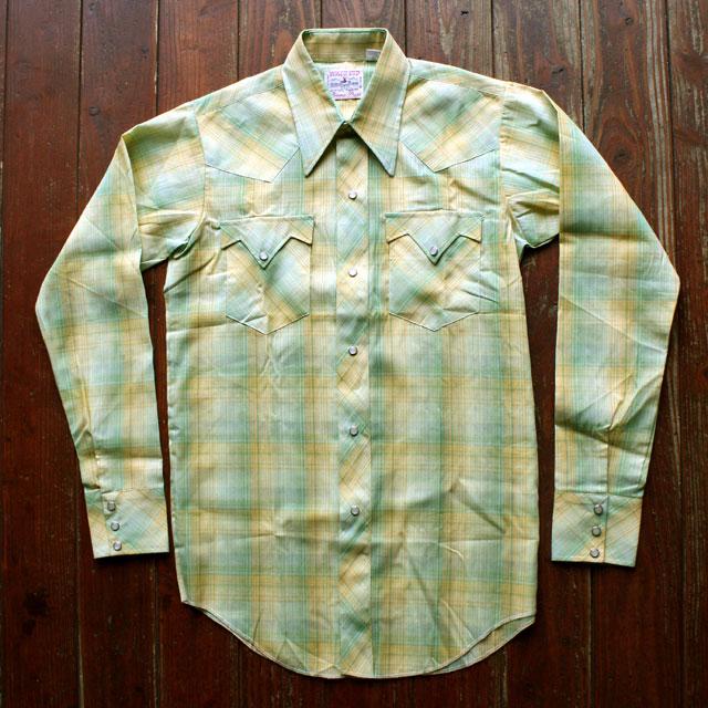 画像1: ◆WACO KID デッドストック【日本製】ウエスタンシャツ