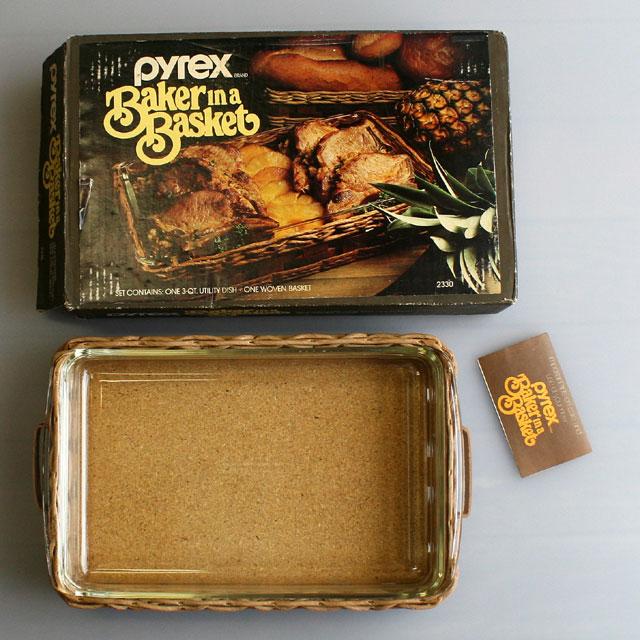 画像1: ◆PYREX ベーカー&バスケット【アメリカ製】未使用