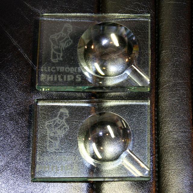 画像1: ◆アンティークPHILIPS 灰皿2個セット