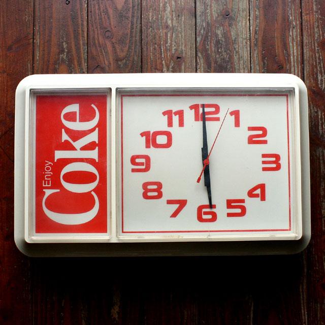 画像1: ◆アンティークCoke 壁掛け時計時計【アメリカ製】希少!