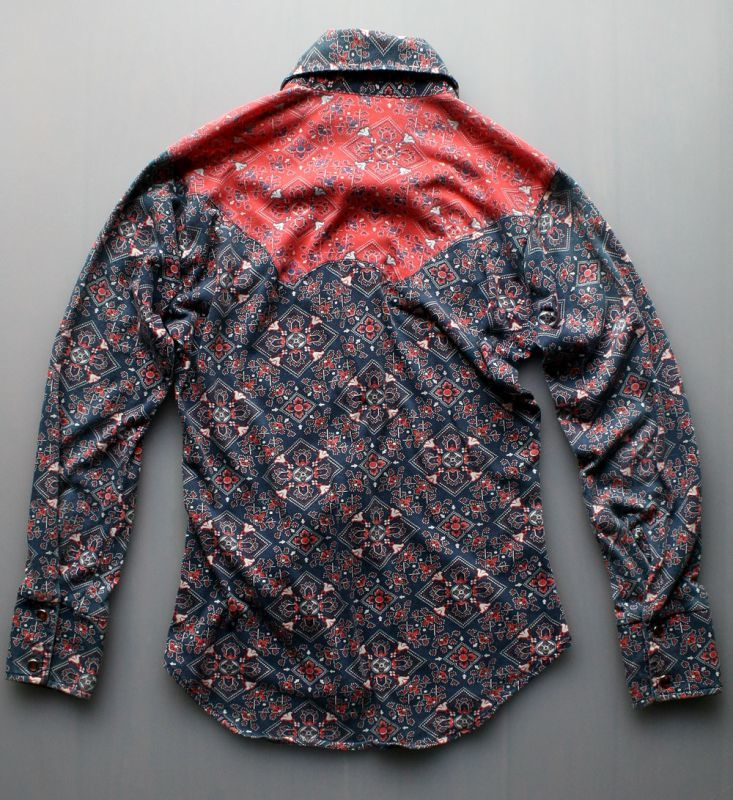 画像2: ◆Lamy Mahan ニット素材ウエスタンシャツ