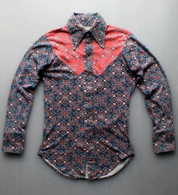 画像1: ◆Lamy Mahan ニット素材ウエスタンシャツ