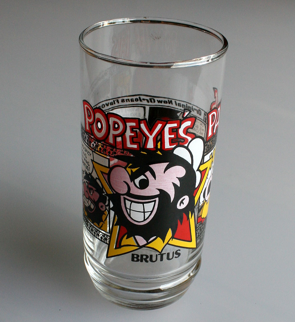 画像1: ◆BRUTUS グラス【アメリカ製】POPEYE'S FAMOUS FRIED CHICKEN