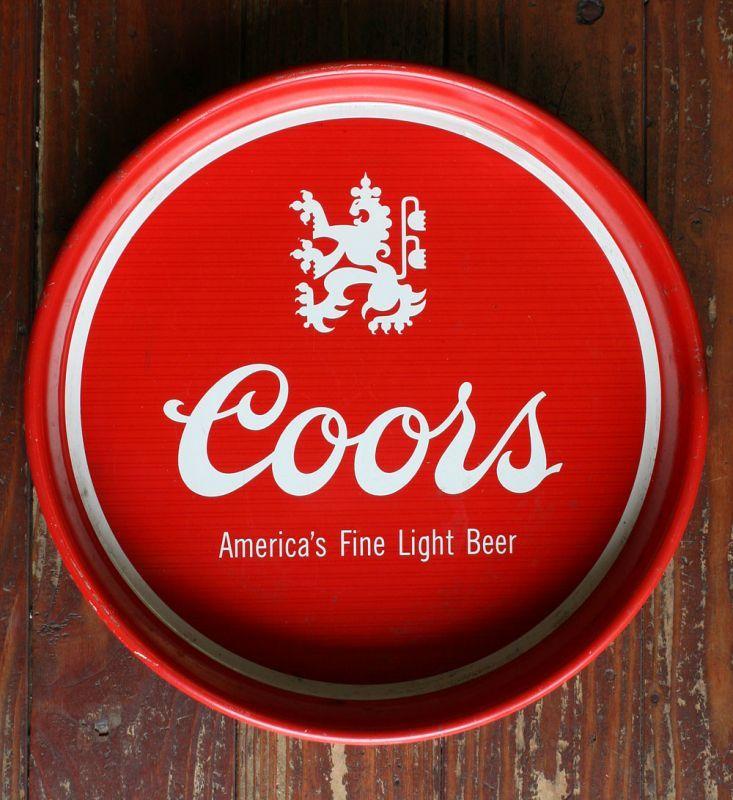画像1: ◆Real VINTAGE Coors Beer Tray【OLD STOCK】