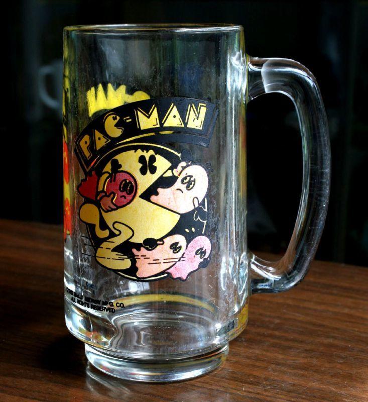 画像1: ◆PAC-MAN ビアグラス【アメリカ製】BALLY MIDWAY MFG. CO.