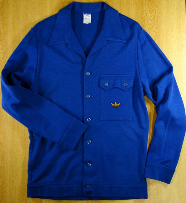 画像1:  ◆70sヴィンテージadidasニットジャケット【金ロゴ】